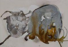 "Saatchi Art Artist Kristbjorg Olsen; Painting, ""Holuhraun II"", mixed media, H 25.5 x W 37 cm."