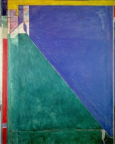Richard Diebenkorn painting with beautiful composition and great form. This painting is from the Ocean Park series.