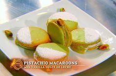 Masterchef Junior: Alexander's pistachio macarons with dulce de leche filling