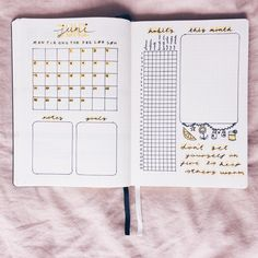 Hello June 🌻 My monthly spread. March Bullet Journal, Bullet Journal Monthly Spread, Bullet Journal Notebook, Bullet Journal School, Bullet Journal Inspo, Bullet Journal Layout, Bullet Journal Ideas Pages, Journal Pages, Bujo Monthly Spread