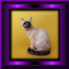 SIAMESE MIX Kitty Cat Porcelain Figurine By Danbury Mint Miniature Glossy