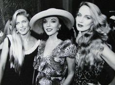 1992 This photo features Joan with Kim Alexis and Jerry Hall posing for photographers at the fabulous Palace of the Lost City at Sun City Resort in South Africa owned by Sol Kerzner, whose 75th birthday cruise