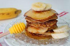 Panqueca americana de banana, aveia e mel   Receitas e Temperos