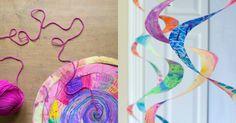 Paper plate swirlies