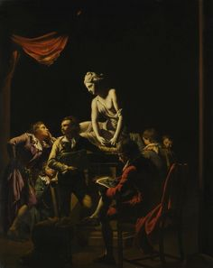 The genius of Joseph Wright of Derby will come under the spotlight later this year when one of the artist's most important candlelit pictures, and one of his last major works remaining in private hands, appears at auction at Sotheby's in London. Derby, Salvator Mundi, Renaissance Paintings, Renaissance Art, Chiaroscuro, Old Master, Art History, Oil On Canvas, Joseph