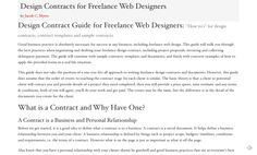 Web Design Contracts