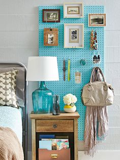 DIY solution for small spaces - add peg board on the back wall of master bedroom closet and the kids closets. Plus possibly in hallway/utility closet and in coat closet for hanging storage