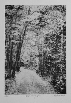 Adirondack Park A Long Way In the road to my by AngellFineArtsLtd, $175.00