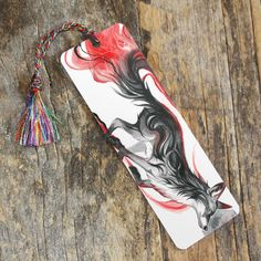 This bookmark features Dark Fox. This bookmark features our newest and highest-quality bookmark style: a rigid, high resolution lamination print with rounded edges. Measures roughly Includes a tassel in a color that compliments the image. Creative Bookmarks, My Bookmarks, Creative Crafts, Bookmark Ideas, Fox Drawing, How To Train Dragon, Painting Canvas, Paper Clip, Animal Drawings