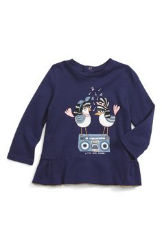 Main Image - LITTLE MARC JACOBS Essential Fancy Tee (Baby Girls)