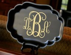Monogrammed Tray Makeover! | Amanda Jane Brown
