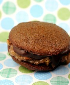 """German Chocolate Whoopie Pie    """"IF YOU WALKED OUT OF BED TODAY AND HAD A JOB TO GO TO, AND A HOME TO COME BACK TO, AND SOMEONE WAITING THERE WHO CARES ABOUT YOU? FOLKS, THE GAME'S OVER, AND YOU'VE WON"""" –Larry Miller"""