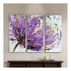 Flores Globularia Púrpura - Cuadros Decorativos Al Óleo - CUADROS A LA CARTE - CUADROS DECORATIVOS AL OLEO