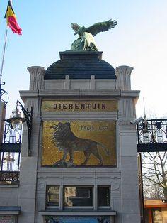 Belgium, Antwerp Zoo, Entrance Gate.  How freaking cool.