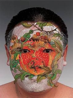 In 1999, artist Huang Yan began a series of paintings & photographs entitled Chinese Landscapes – landscapes painted on the skin of a human body, expressing the encounter between Chinese traditional culture and the contemporary world.