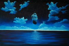 """Saatchi Online Artist Andrei Engelman; Painting, """"Flying Dutchman"""" #art"""