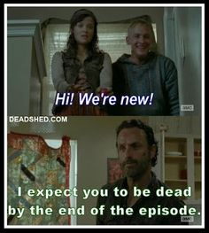 The Walking Dead. Why I don't watch this show. :p