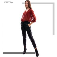 Miss Pinky Red Leather, Leather Pants, Womens Fashion, Jackets, Clothes, Products, Leather Jogger Pants, Down Jackets, Outfits