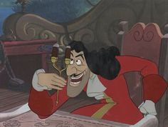 Production Cel Featuring Captain Hook from Peter Pan