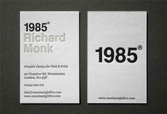 Richard Monk had his letterpress business card printed on 2 colour, double-sided 540 white board. Business Card Maker, Business Cards Layout, Letterpress Business Cards, Unique Business Cards, Letterpress Printing, Business Card Design, Self Branding, Branding Design, Design Resume