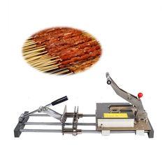 MS series manual meat skewer machine help you skewer the meat kebab more easily.