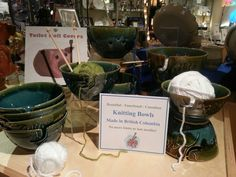 Made by Coldstream Pottery in British Columbia these beautiful knitting bowls come on 2 different colour combinations in 2 different sizes. Perfect for the knitter in your life!