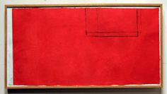 Robert Motherwell - Red Open with White Line