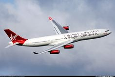 Airbus A340-313X aircraft picture Virgin Atlantic