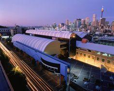 Sydney's Powerhouse Museum at dusk.