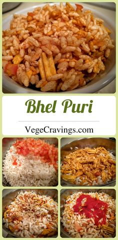 Quick and easy tea time snack made with murmura/puffed rice flavored with chutney and spices | Indian Vegetarian Snack Recipe with Step By Step Photos
