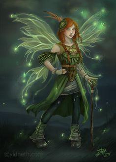 The Green Fairy by yidneth.deviantart.com on @deviantART