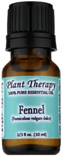 Fennel (sweet) Essential Oil. 10 ml. 100% Pure, Undiluted, Therapeutic Grade. by Plant Therapy Essential Oils. $7.73. Packaged in dark amber glass bottle with euro style dropper cap.. For your convenience all Plant Therapy Essential Oils have an oil identification sticker on the cap. This is especially beneficial if you use a top load carrying case.. 100% Certified Pure Therapeutic Grade Essential Oil- no fillers, additives, bases or carriers added.. Aromatic Scent:Fennel Swe...