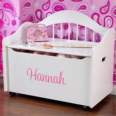 @rosenberryrooms is offering $20 OFF your purchase! Share the news and save!  Personalized Limited Edition Toy Box - White #rosenberryrooms