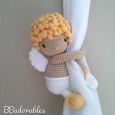 Free Amigurumi Crochet – Free amigurumi patterns and amigurumi crochets Crochet Doll Pattern, Crochet Dolls, Crochet Patterns, Crochet Angels, Slip Stitch Crochet, Single Crochet Stitch, Magic Ring Crochet, Crochet Curtains, Curtain Tie Backs