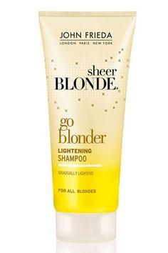 John Frieda Sheer Blonde Go Blonder Lightening Shampoo Lighten Hair Naturally, How To Lighten Hair, How To Make Hair, Color Shampoo, Hair Shampoo, Make Hair Lighter, Dove Hair Care, Best Clarifying Shampoo, Beauty