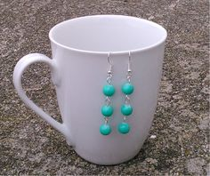 Toremore Crafts - mint glass bead earrings
