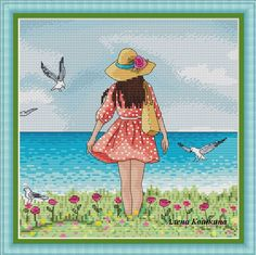 Мои схемки Cross Stitch Sea, Cross Stitch Patterns, Cartoon Art, Sisters, Stitches, Chart, Lady, People, Paper Art