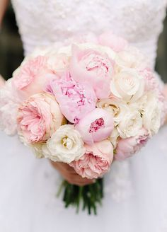 Arguably the most romantic flower in the world, peonies have earned their spot as one of the most coveted blossoms for weddings. #WeddingBouquet