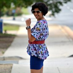How to style Asos Peplum Top