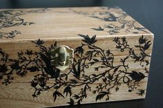 Japanese Foliage Wooden Box 3 by sixthandelm, via Flickr