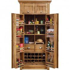 Orchard Oak Larder 1000x665x2100mm - Pantry & Storage - Kitchens