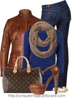 Winter ensemble with louis Vuitton bag