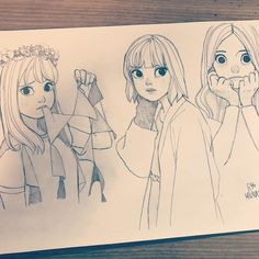 "2,931 Likes, 4 Comments - Ryo Murata (@ryooo.m5) on Instagram: ""✏︎ #ryomurata #artwork #artworks #drawing #illust #illustration #sketch #pencil #girl #love…"""