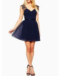 abaday Lace Panel V-neck Pleated Backless Blue Dress Chiffon Dress, Lace Dress, Dress Up, Lace Chiffon, Skater Dress, Frill Dress, Marine Uniform, Latest Street Fashion, Up Girl
