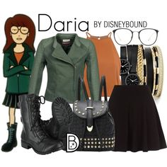 Daria by leslieakay on Polyvore featuring Glamorous, Naf Naf, Skagen, GUESS, Linda Farrow and Halloween