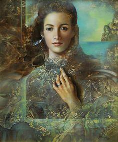 Art for sale from artist Alberto Pancorbo - La Mujer. L'art Du Portrait, Sacred Feminine, Art Plastique, Magazine Art, Female Art, Painting Lessons, Fantasy Art, Street Art, Illustration Art