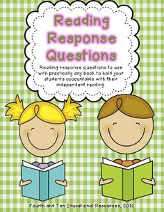 3rd grade - 5 minute response at end of Read to Self - free questions for fiction/nonfiction