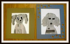 from Fine Lines blog: Doggies Galore!! inspired by work of Denise Fiedler.