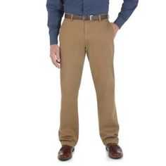 Wrangler Men's Advanced Comfort Performance 4Way Flex Pant, Size: 36 x 30, Bronze