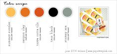 June 2016 Color Recipe #2 (Summer Sunrise, Canyon Clay, Terracotta Tile, True Black, Stormy Sea)
